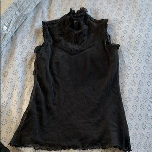 High neck lined top